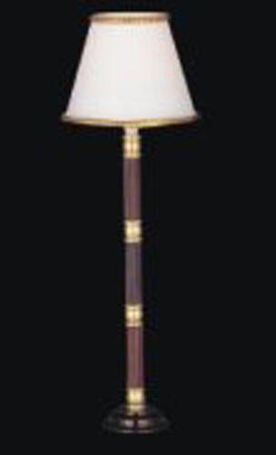 Escala 1:12 Lámpara de pie en funcionamiento con una sombra de blanco Casa De Muñecas Accesorio de luz 004