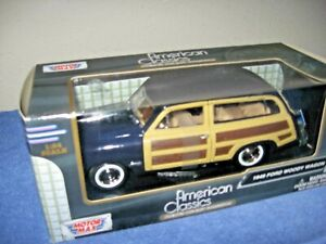 New Motormax 1//24-1949 FORD WOODY WAGON DIECAST CAR *Choose color