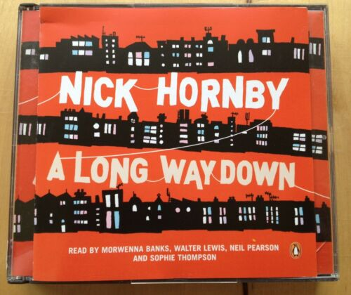 1 of 1 - AUDIO BOOK - NICK HORNBY - A Long Way Down read by Morwenna Banks etc - 3 x CDs