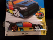 HW HOT WHEELS 2017 HW ART CARS #9/10 AMAZOOM BLACK HOTWHEELS VHTF