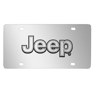 Jeep-Silver-3D-Logo-Mirror-Chrome-Stainless-Steel-License-Plate