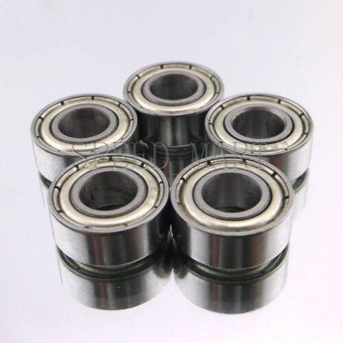 6x13x5 mm Metal Double Shielded Ball Bearing Bearings 686z 5 pcs 686ZZ