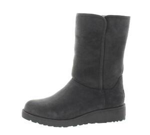 UGG Australia Womens Amie Classic Slim Suede Sheepskin BOOTS 7 Med Grey  1013428 9d6d189356