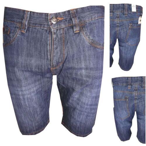 Bermuda jeans da uomo shorts corti slim 48 50 52 54 56 pantaloncini in di cotone