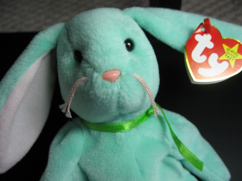 RARE 1996 Ty Beanie Baby Hippity Rabbit with all ERROR Origiinal Tags DOB June 1