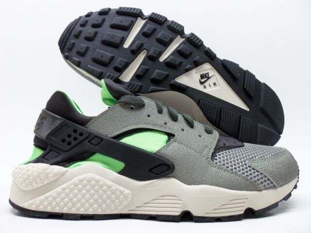 check out 58635 e0ac3 NIKE AIR HUARACHE TRAINER MINE GREY MID FOG-GREEN SIZE MEN S 9  318429