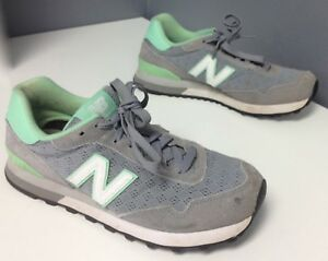 online for sale new lifestyle sneakers Details about NEW BALANCE 515 Classic Gray Mint Trimmed Lace Up Athletic  Trainers Sz 8 B4490