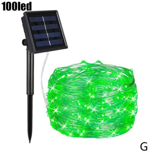 100 LED Solar String Lights Waterproof Copper Wire Fairy Outdoor Garden Party US
