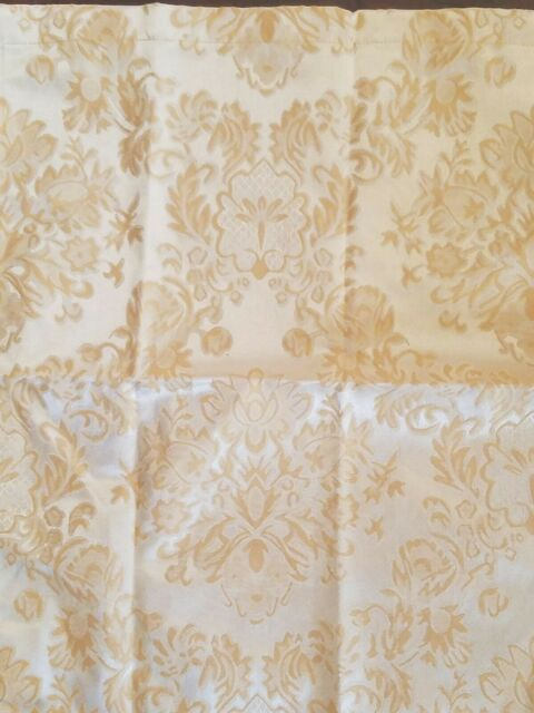 Waterford Linens SET OF 4 Dinner Napkins~Rust~Sonta~New~Tan//Maroon//Gold