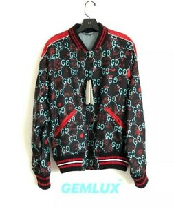 4c7810a1c Image is loading GUCCI-Ghost-Silk-Bomber-Jacket-Size-M