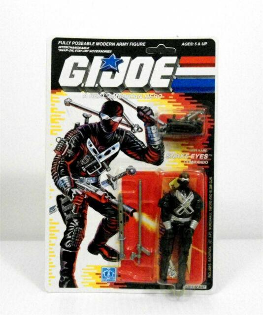 GI JOE 1989 SNAKE EYES SUBMACHINE GUN ONE DAY HANDLING