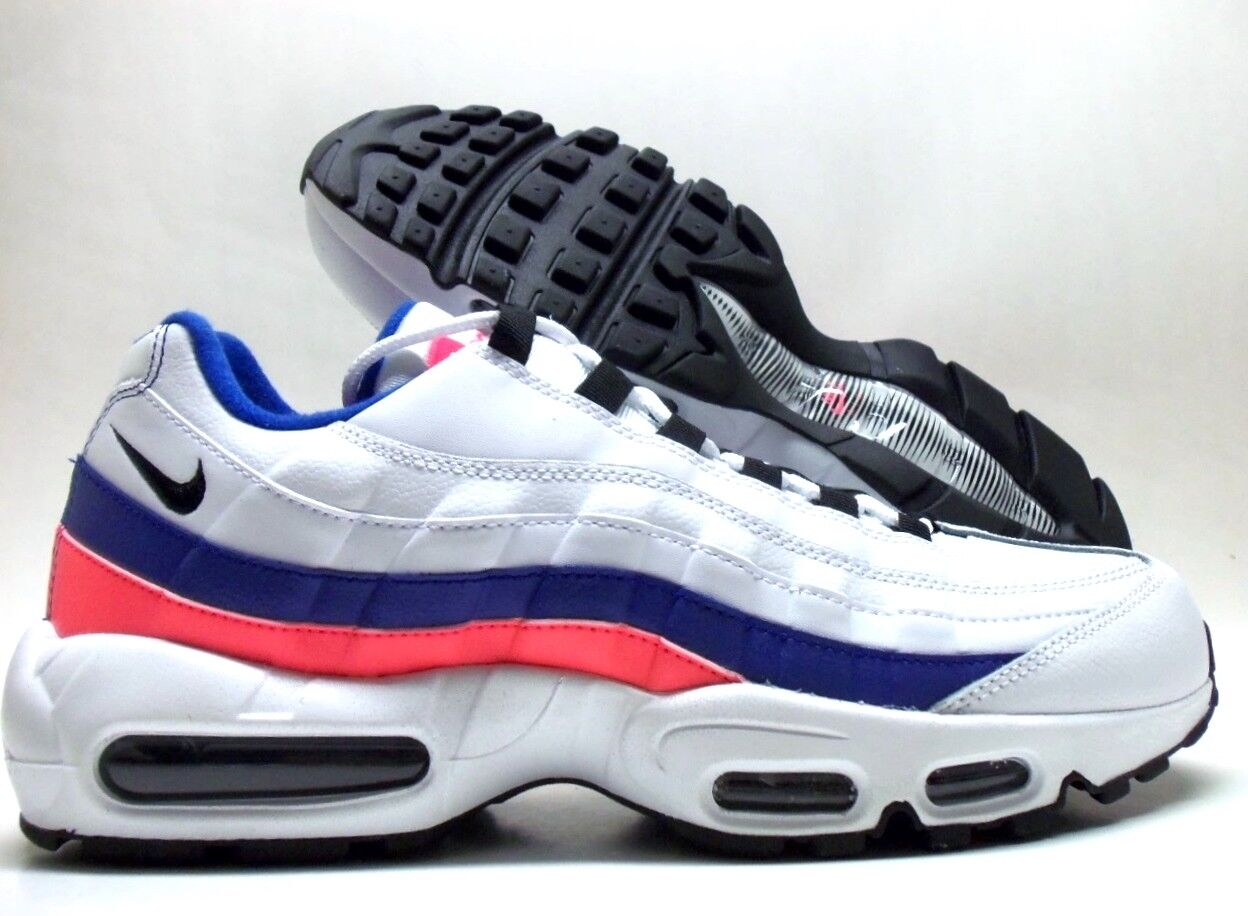 NIKE AIR MAX 95 ESSENTIAL WHITE/BLACK-SOLAR RED SIZE MEN'S 9.5 [749766-106]
