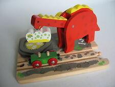 Dinosauro GRU PER LEGNO binario treno (Brio Thomas Brillante CRAIN) ~ NUOVO