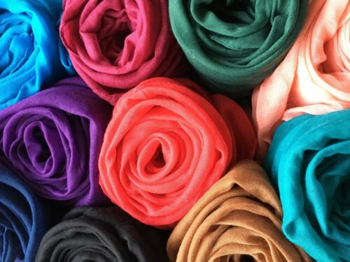 Plain MISTI COTONE Hijab Sciarpa