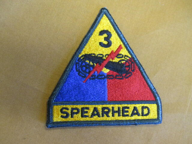 Clothing 3rd Armored Division Spearhead Patch Full Color