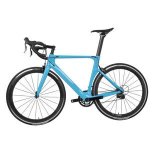 56cm-AERO-Full-Carbon-Road-bike-frame-700C-Wheel-Clincher-Fork-seatpost-V-brake