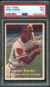 1957-Topps-BB-Card-20-Hank-Aaron-Milwaukee-Braves-HOF-PSA-NM-7