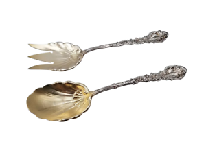 Large-Salad-Serving-Set-Versailles-by-Gorham-Sterling-Silver-Flatware-11-034-GW