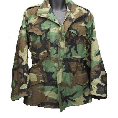 uk availability 033b7 7ee36 Alpha Industries M65 M-65 Field Jacket Coat Woodland Camo | eBay