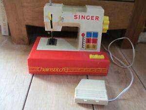 DéSintéRessé Vintage ! Machine à Coudre Singer à Piles Pour Enfant éLéGant Et Gracieux