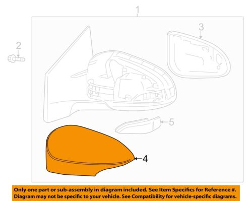 NEW TOYOTA 14-15 Corolla Front Door Mirror Cover Left 8794502410B0 *OPENED BOX**