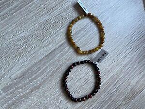 2 bracelet en pierre naturelle 6mm