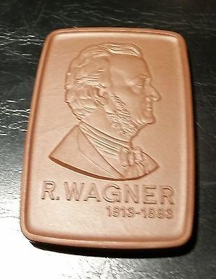 Herzhaft Meissen Porzellan Medaille Plakette R.wagner 60 X 42 Mm