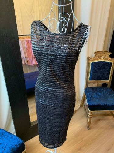 Designer Ladies Dresses Chainmail Midi Dress Party Outfit Evening Wear UK Made