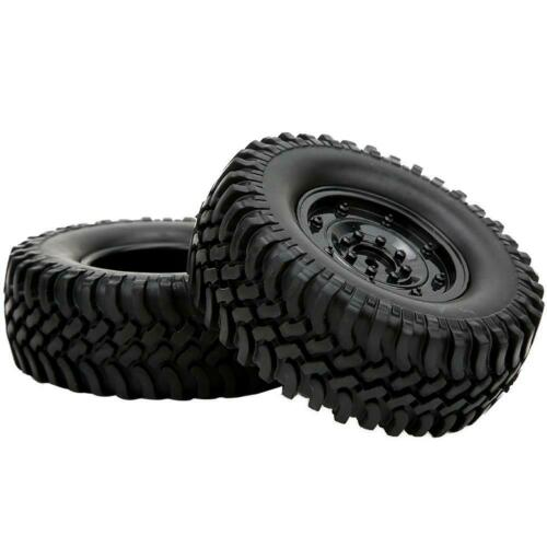 2tlg Räder 100mm Reifen Naben Felgen Radnaben Zubehör für 1//10 RC Crawler LKW