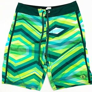 10e7f2e5ce Volcom Mod-Tech Youth Boys Boardshorts Swim Trunks Sz 18 (29) Green ...