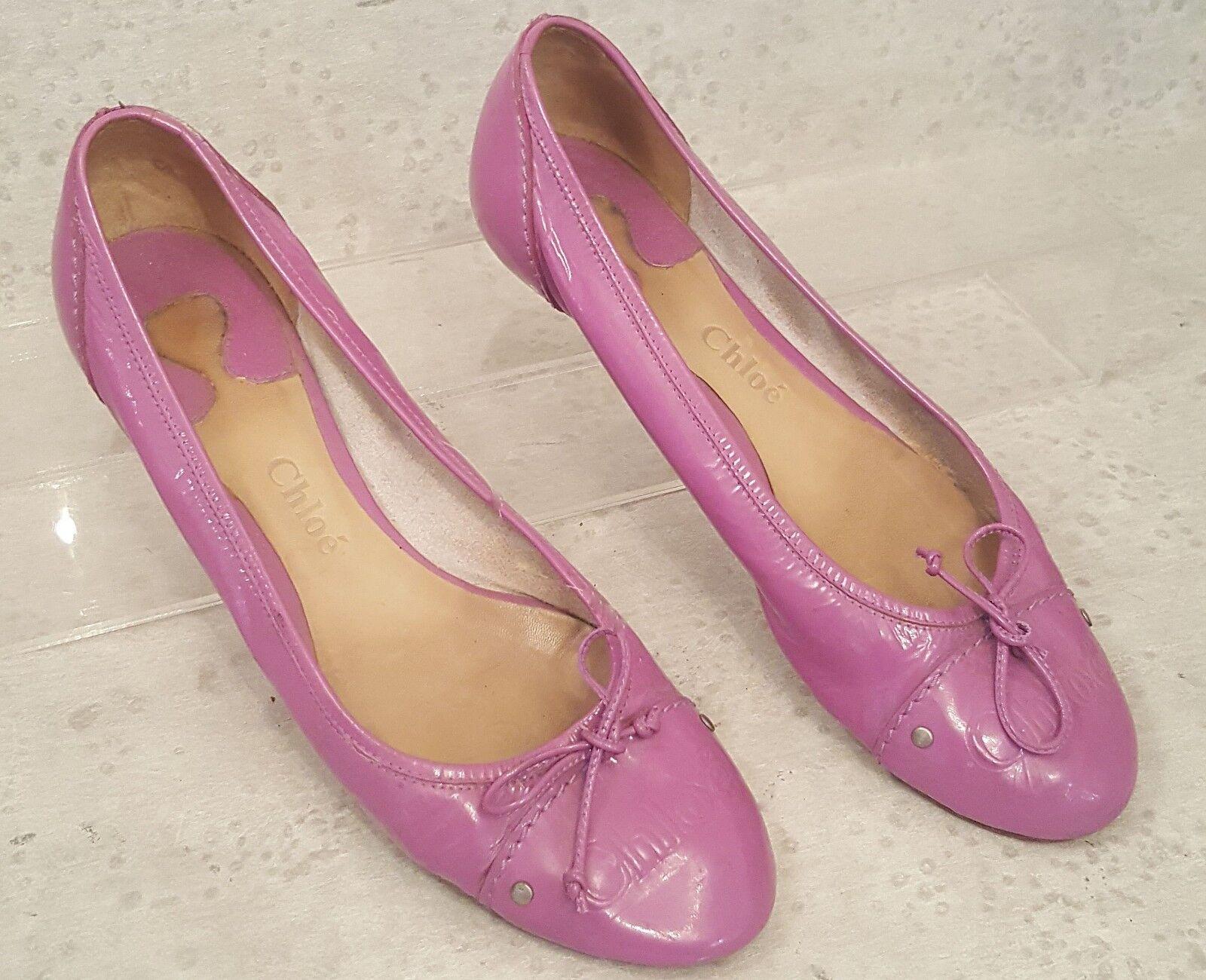 Chloe Ballet Flats Patent leather purple sz 8.5 M