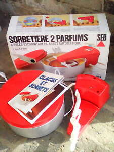 SORBETIERE SEB 2 PARFUMS TYPE 324. LIVRET SORBETS & GLACES.FONCTIONNEL TESTE.TBE