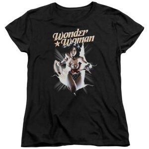Justice League DC Comics Wonder Woman Break Out Women s T-Shirt Tee ... 02e80cda55d79
