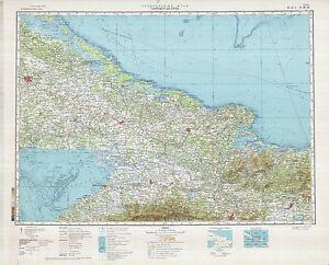 Russian Soviet Military Topographic Maps Santiago De Cuba Cuba