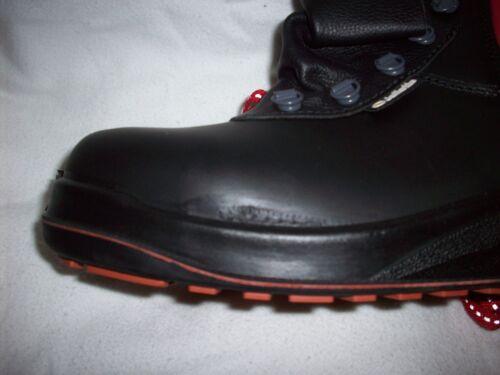 SIZE 12 JALLATTE JALTARMAC J0250 BLACK SAFETY TOE CAP HEAT PROOF BOOTS TRAINERS
