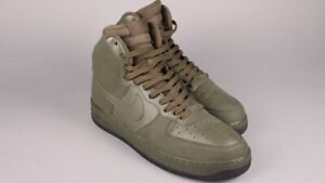 hot sale online 1cb1f 188cf Details about Nike Air Force 1 High QS Size 12 AF1 Black Army Bog Green  Loden 315121-300 BHM