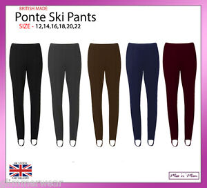 b80b2aa047924 New Ladies Pull On Ski Pants Elasticated Stirrup Women Trouser Plus ...