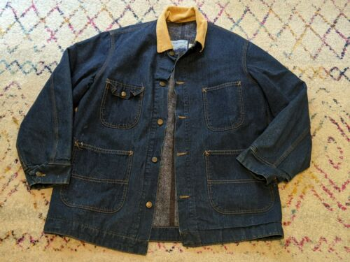Fieldmaster Denim Chore Jacket Men's L VTG USA