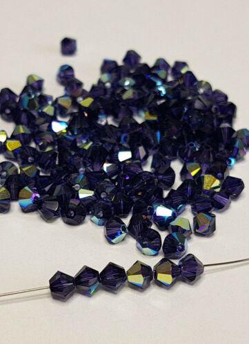 Swarovski® Kristalle Bicone Xilion 5328 Purple Velvet AB versch.Größe 10-50Stk