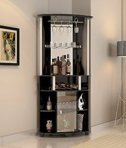 Image Is Loading Wine Cabinet Home Bar Storage Corner Liquor Rack