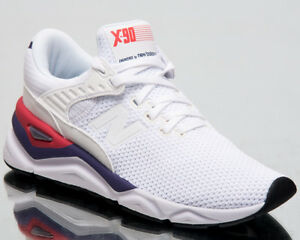 Details about New Balance X 90 Women Lifestyle Shoes White Munsell Indigo Sneakers WSX90 CLA