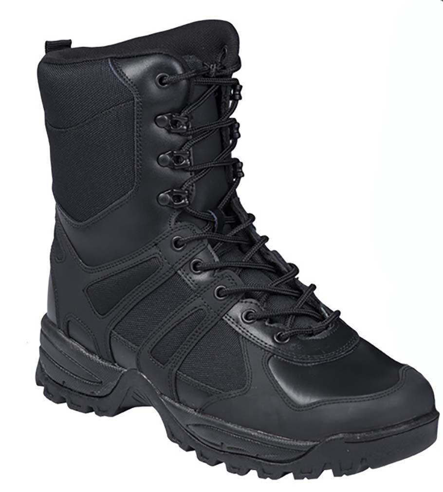 Anfibi stivali militari neri MILTEC Combat pelle Boots GEN II in pelle Combat anfibio stivali cb8b7e