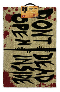 Walking-Dead-Do-Not-Open-Door-Mat-40X60CM-Coco-Antiderapant-Neuf-sous-licence-Pyramide