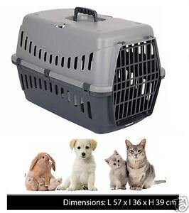 Gros-pet-carrier-puppy-chien-chat-chaton-lapin-carry-panier-de-voyage-cage-plastique