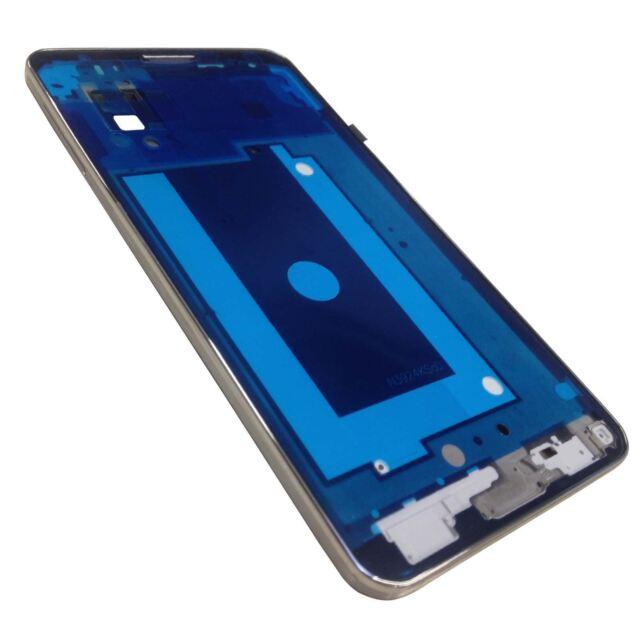 Samsung Galaxy Note 3 N9005 Recambio Silver Side bisel y Placa Marco