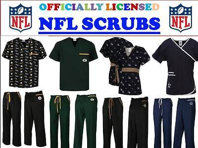 Scrub Dudz  NFL Solid Scrub Pants Green Large Green Bay Packers