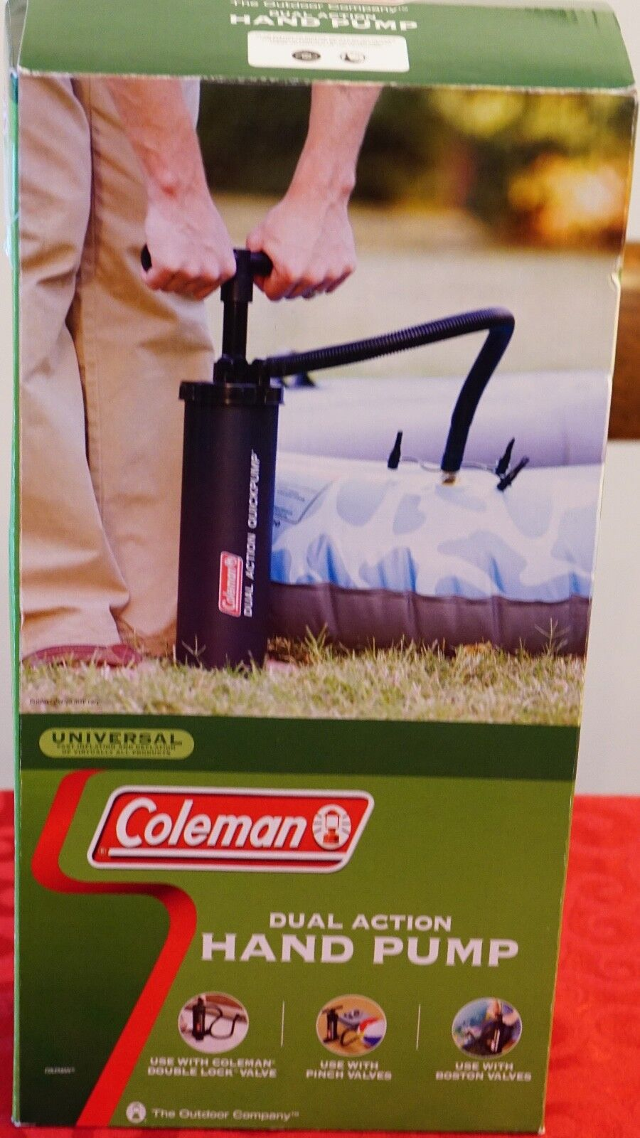 Coleman Dual Action Hand Pump and an Ozark Outdoor  Air Mattress  lightning delivery