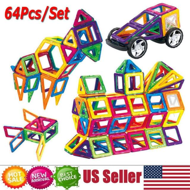 Magnetic Building Blocks Construction Educational Kids Magic Toys Gift