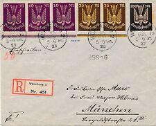235/7 - Holztaube (II) - wunderbarer Reco-Brief mit kpl. Satz + UR Zwischensteg
