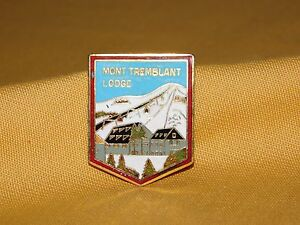 "VINTAGE 1 3/8"" HIGH    METAL MONT TREMBLANT LODGE PINBACK PIN"